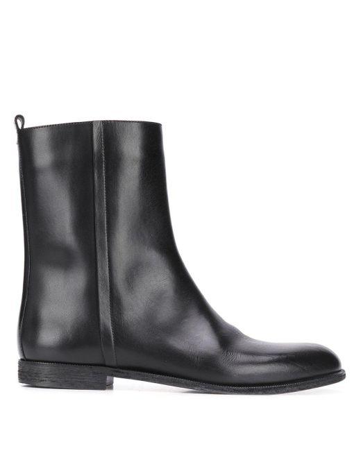 Ботинки На Молнии Maison Margiela для него, цвет: Black