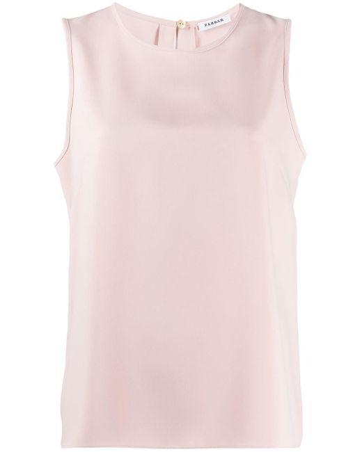 P.A.R.O.S.H. Top suelto sin mangas de mujer de color rosa X1ORU