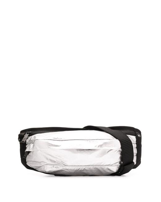 メンズ Y-3 メタリック ベルトバッグ Black