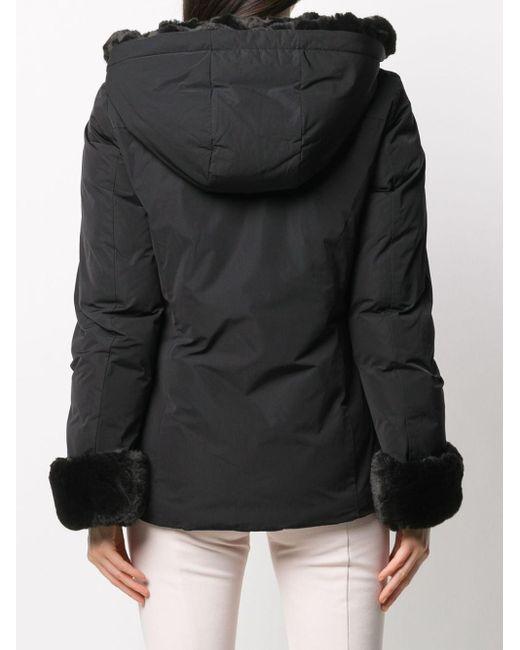 Woolrich エコファートリム パデッドジャケット Black