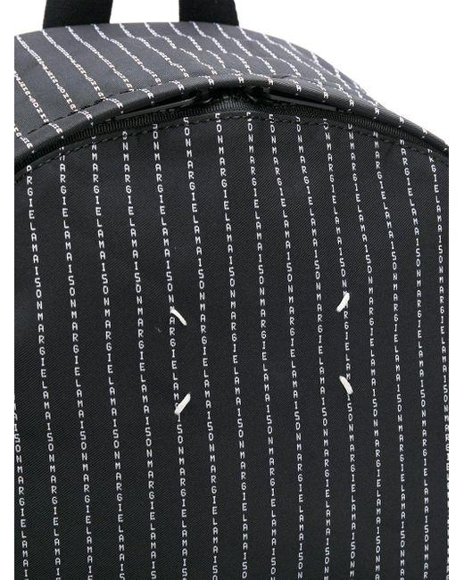 メンズ Maison Margiela ストライプ ロゴ バックパック Black
