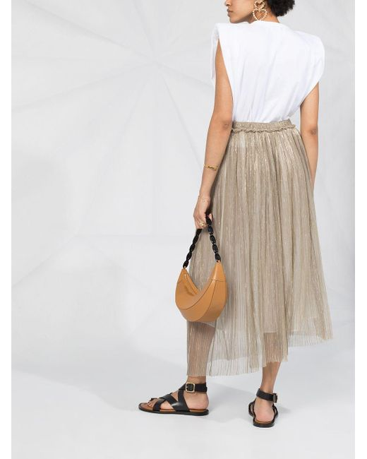 Étoile Isabel Marant メタリック プリーツスカート Multicolor