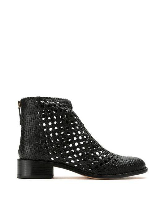 Sarah Chofakian Black Teca Leather Boots
