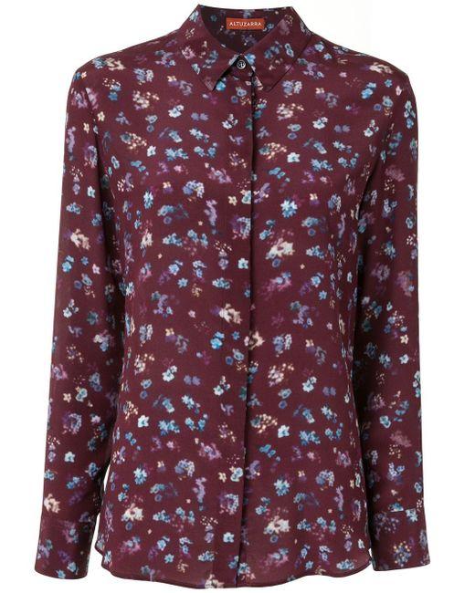 Camicia a fiori Chika di Altuzarra in Purple