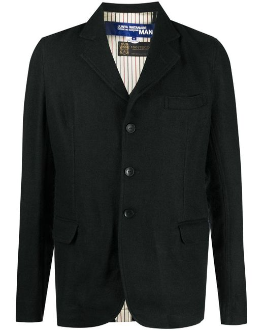 メンズ Junya Watanabe シングルジャケット Black