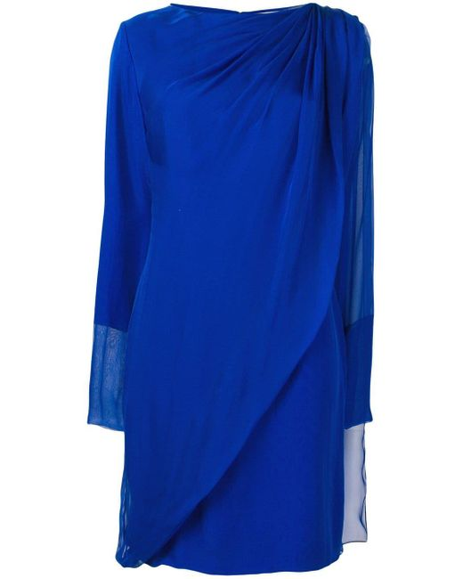 Lanvin ドレープ ドレス Blue