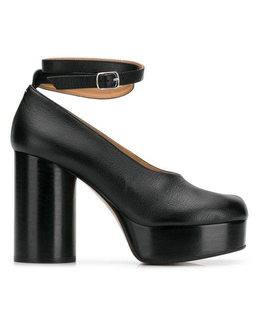 62a0e20440e4 Maison Margiela - Black Tabi Double Strap Pumps - Lyst ...