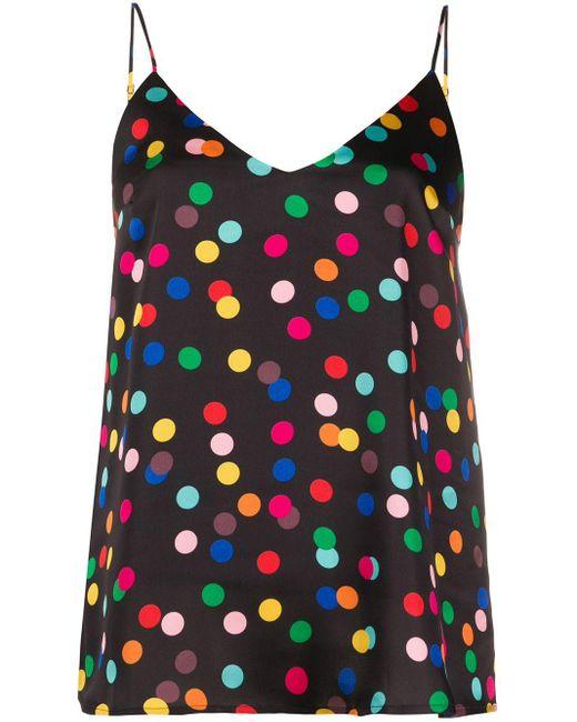 Racil Camisola con estampado de lunares de mujer de color negro 3NgN6