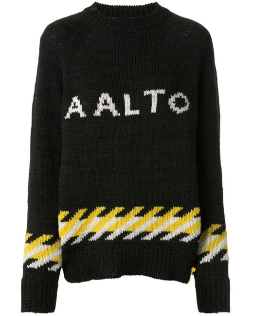 AALTO ロゴ セーター Black