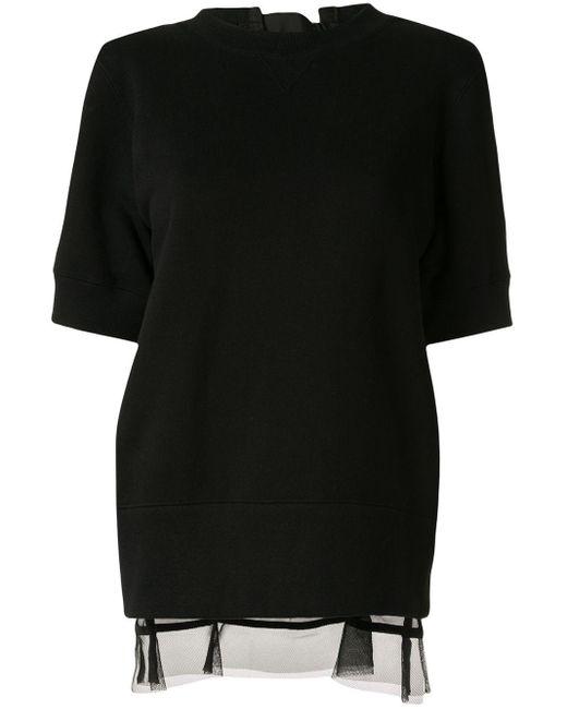 Sacai パネル スウェットシャツ Black