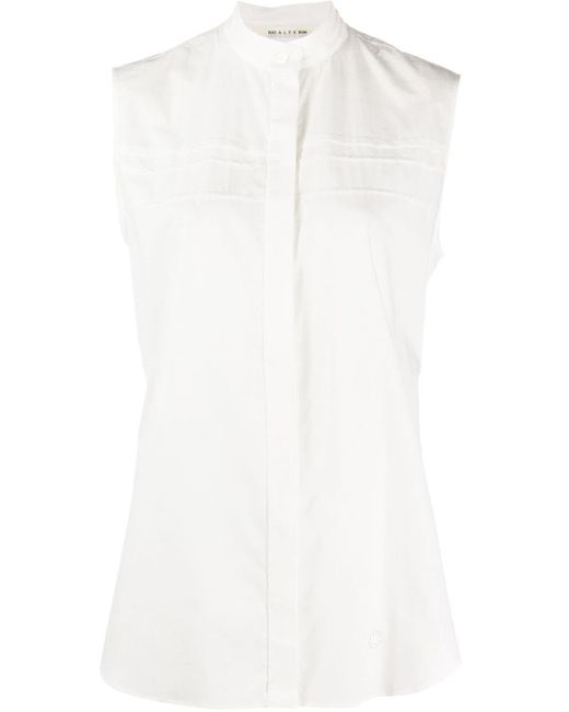1017 ALYX 9SM バンドカラー シャツ White