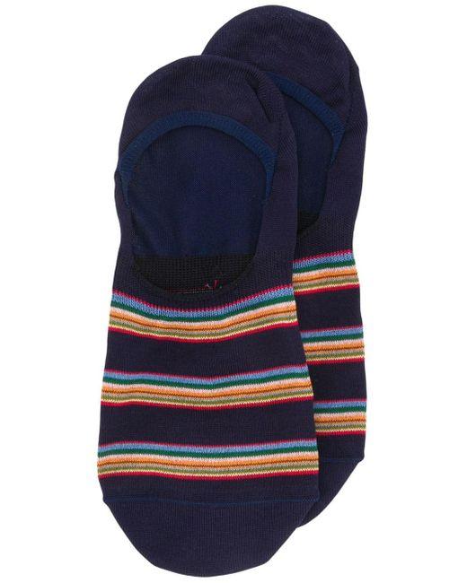 Короткие Носки С Контрастными Полосками Paul Smith для него, цвет: Blue