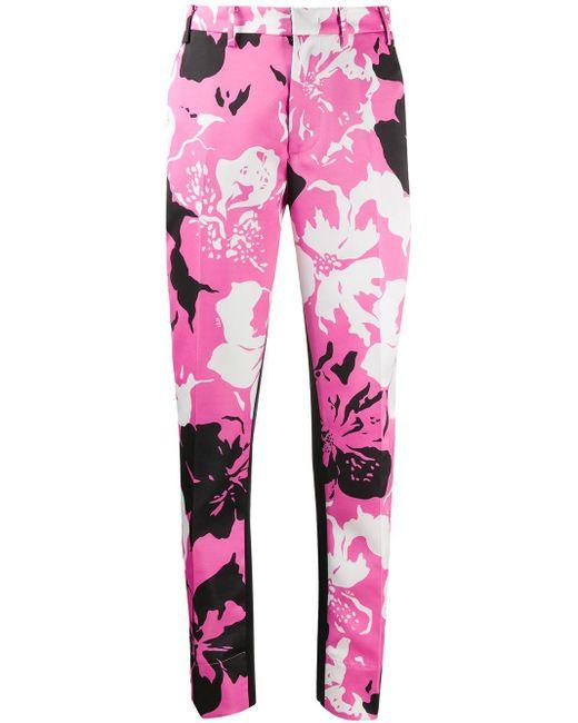 N°21 フローラル スリムパンツ Pink