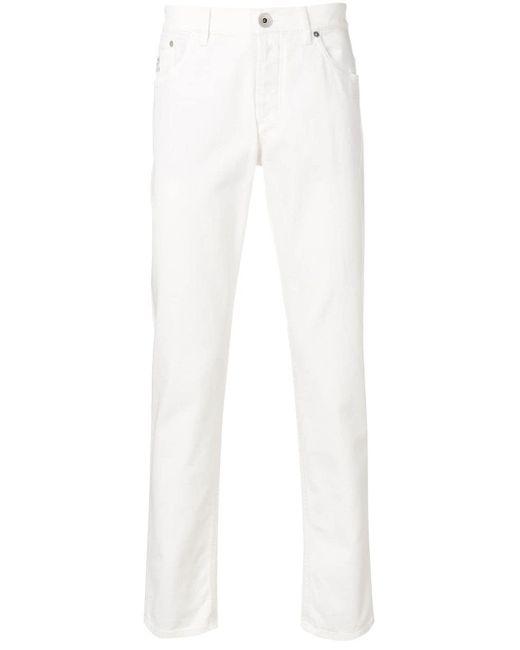メンズ Brunello Cucinelli スリムパンツ White