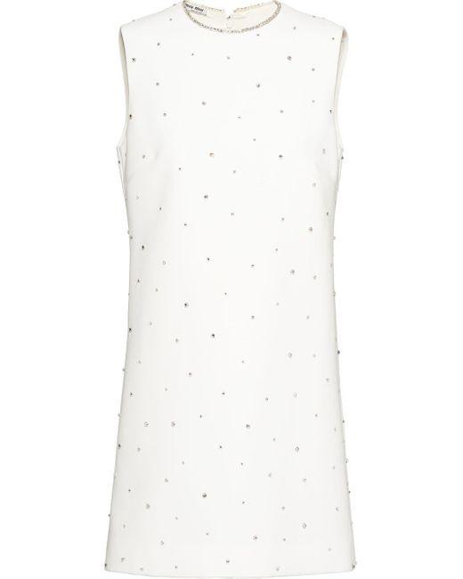 Miu Miu Faille キャディ ドレス White