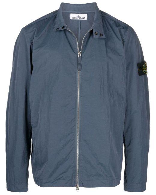 Куртка С Нашивкой-логотипом Stone Island для него, цвет: Blue