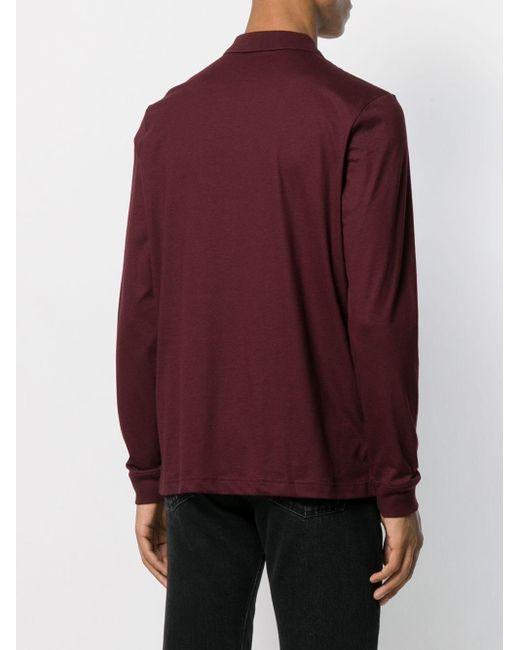 メンズ Calvin Klein ロゴ ポロシャツ Red