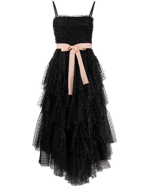 RED Valentino リボン チュール ドレス Black