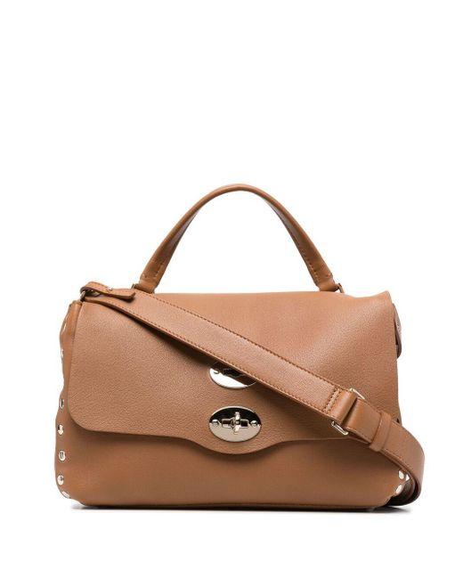 Zanellato Brown Postina Leather Tote Bag