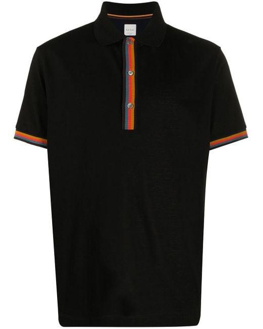 Рубашка-поло С Отделкой В Полоску Paul Smith для него, цвет: Black