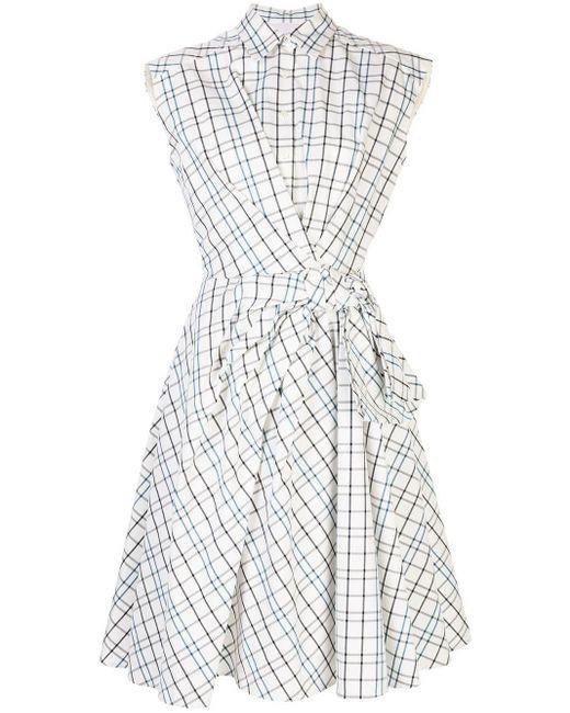 Carolina Herrera チェック ドレス White