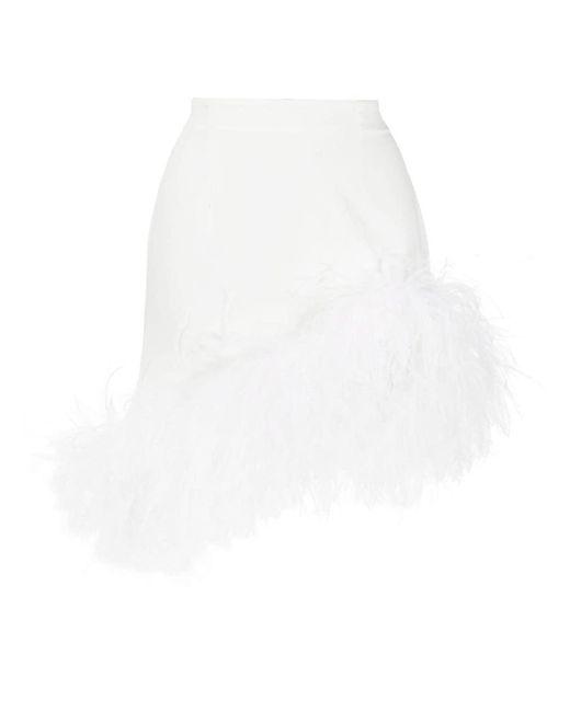 Юбка Мини Vivien С Перьями 16Arlington, цвет: White