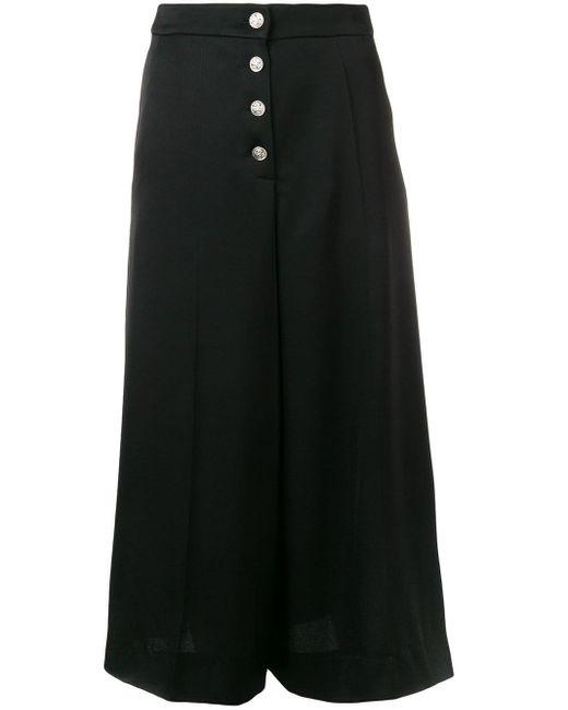 Sonia Rykiel ボタン パンツ Black