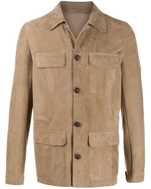 メンズ Salvatore Santoro スリムフィット シングルジャケット Brown