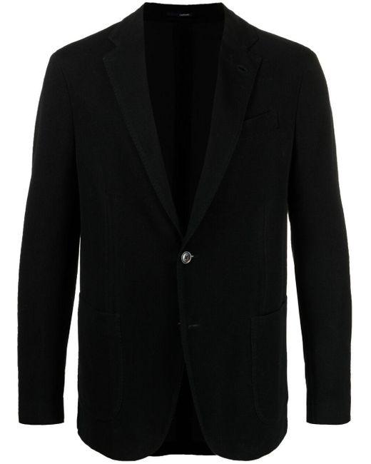 Однобортный Пиджак Строгого Кроя Lardini для него, цвет: Black