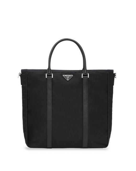 メンズ Prada ロゴ ハンドバッグ Black