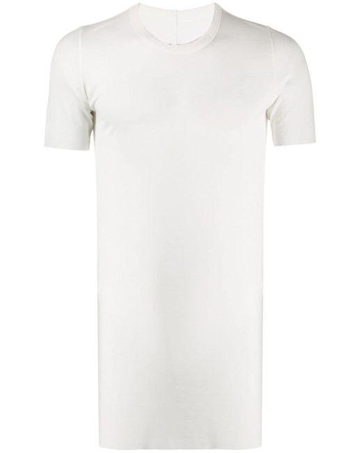メンズ Rick Owens ロングライン Tシャツ White