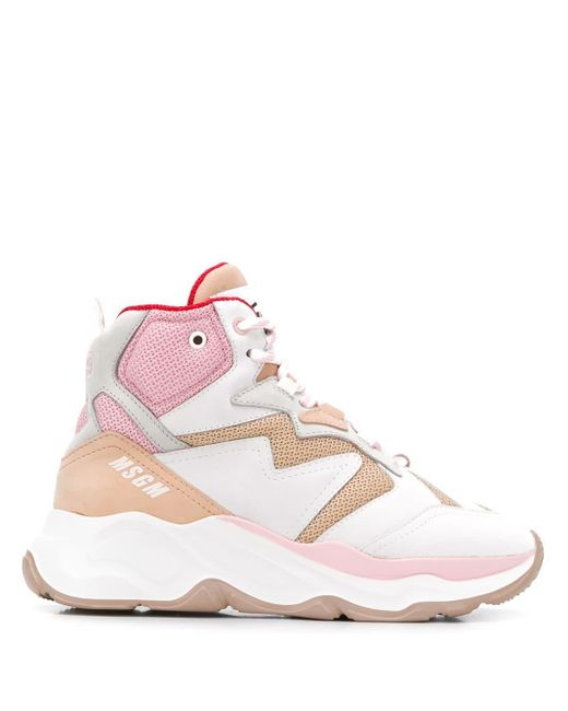 MSGM レースアップ スニーカー Pink