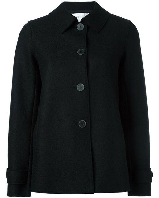 Harris Wharf London - Black Classic Short Coat - Lyst