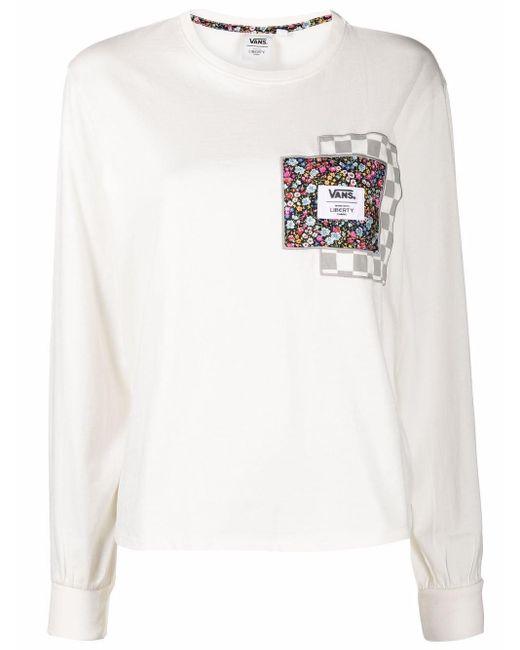 X Liberty haut à patch fleurs Coton Vans en coloris Blanc - Lyst