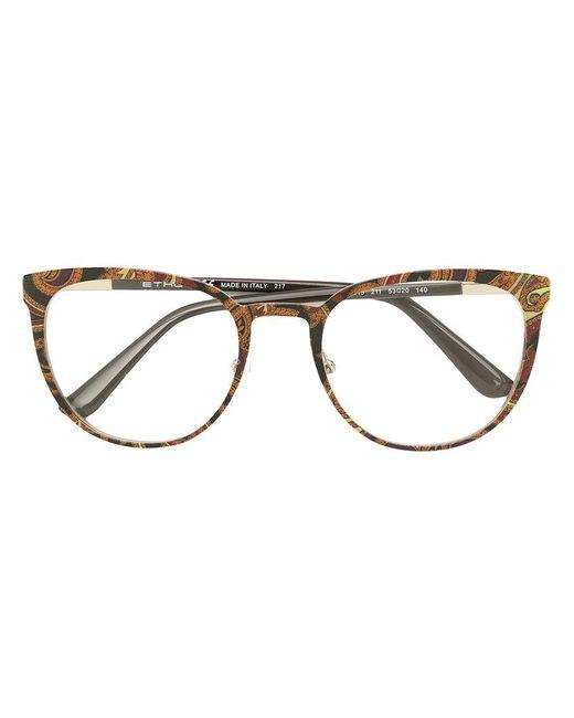 Sale Explore Etro printed square frame glasses Cheap Sale Outlet Cheapest Sale Online Visit Sale Outlet hD1K3tTCU