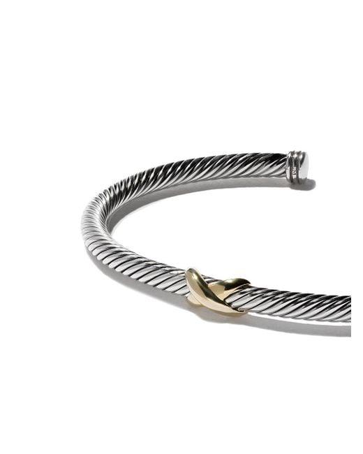 David Yurman X Cable カフブレスレット Metallic