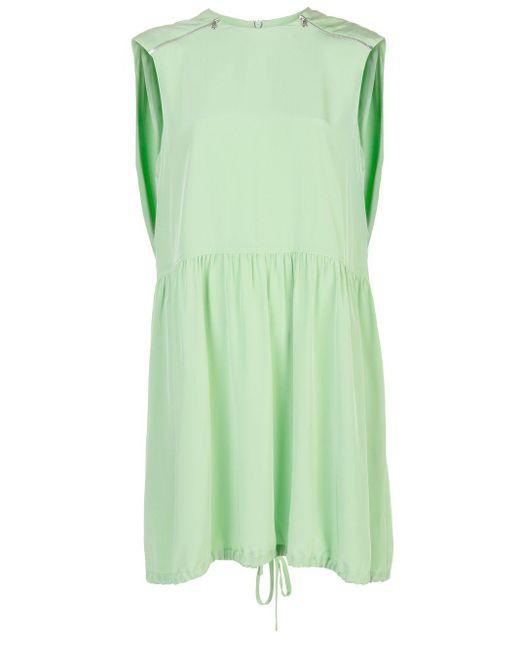 Tibi ベルテッド ドレス Green