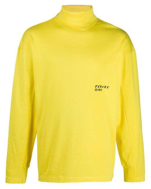 メンズ Ambush タートルネック プルオーバー Yellow