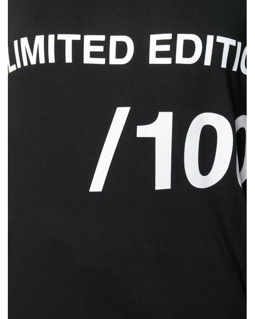 Camiseta con motivo Unlimited Edition MM6 by Maison Martin Margiela de color Black