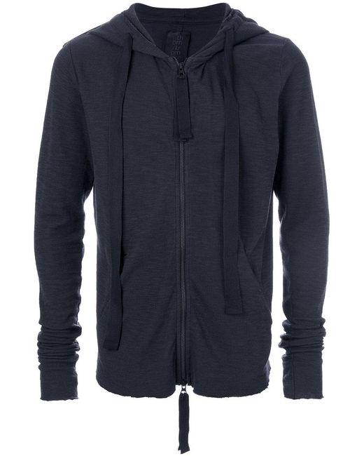 Thom Krom - Blue Slim-fit Zipped Hoodie for Men - Lyst