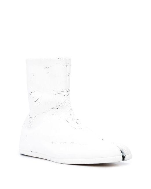 メンズ Maison Margiela ダメージブーツ White