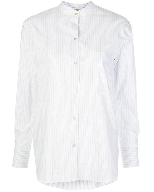 Vince ストライプ マンダリンカラーシャツ White