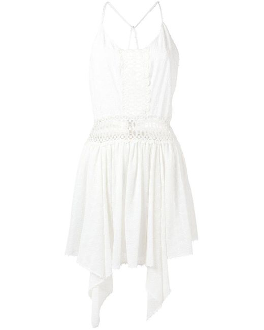 Martha Medeiros Vestido Melissa リゾートワンピース White