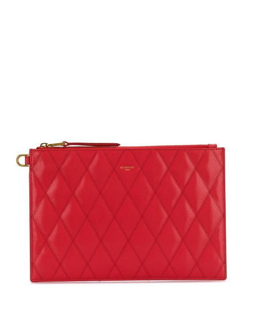 Givenchy キルティング クラッチバッグ Red