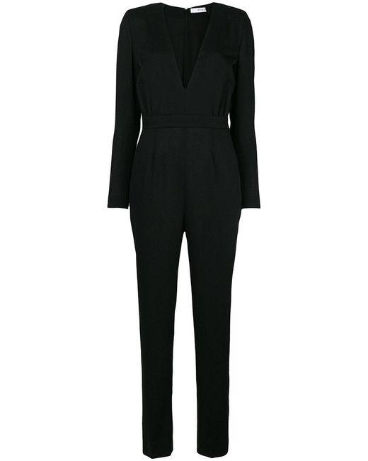 Givenchy - Black Deep V-neck Jumpsuit - Lyst