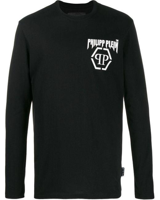 メンズ Philipp Plein ロゴ Tシャツ Black