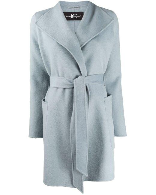 Luisa Cerano ベルテッド シングルコート Blue