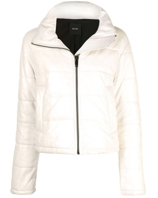 Doudoune crop zippée LTH JKT en coloris White