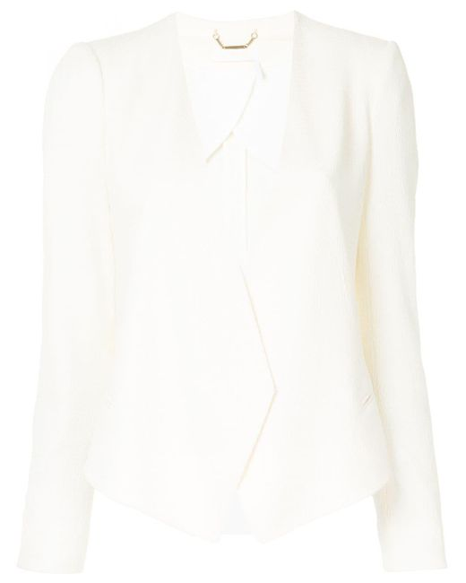 Chloé ノーカラー ジャケット White