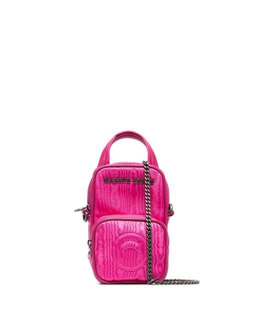 MARINE SERRE ロゴ ミニバッグ Pink